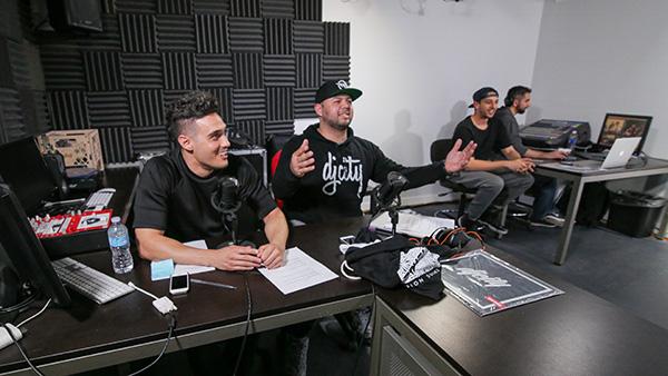 Hosts DJ Dainjazone and MikiWAR